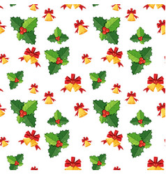Seamless background template with mistletoes and vector