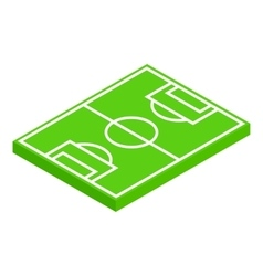 Soccer field layout isometric 3d icon vector