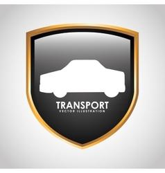 transport signal design vector image vector image