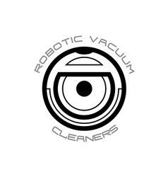 Vacuum cleaner robot symbol vector image vector image