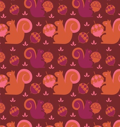 Little squirrel seamless background vector