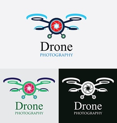Drone cam photography logo vector