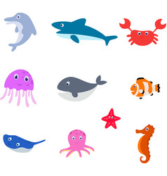 Sea animal cartoon vector