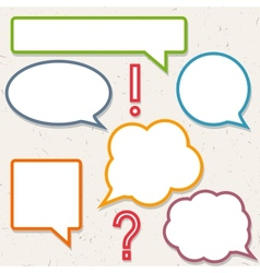 Set of colorful speech bubbles frames for you vector