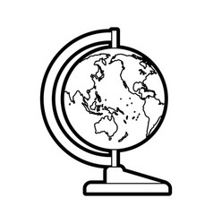 World map teach accessory vector
