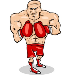 Boxer sportsman cartoon vector