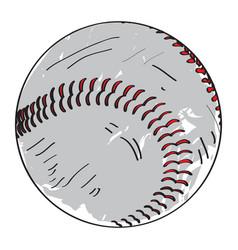 Retro baseball ball vector