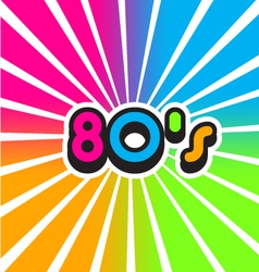 80s vintage color background vector