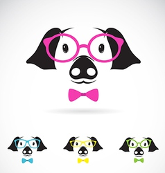 Image of a pig glasses vector