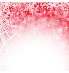 Christmas snowflakes on red background vector