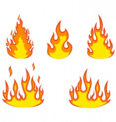 flame collection vector image