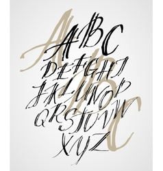 The original alphabet hand-made lettering vector