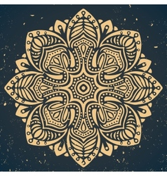 Vintage ornament on dark blue background vector