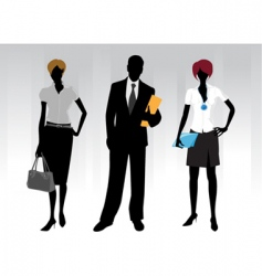 business peoples vector image