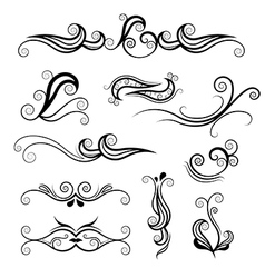 Swirl element design vector
