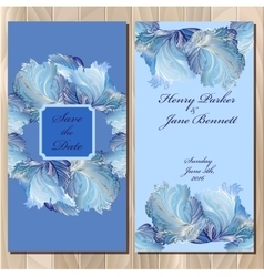 Winter frozen glass design invitation card vector
