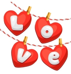 Greeting card with hearts Concept can be used for vector image