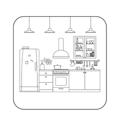 Kitchen line interior vector