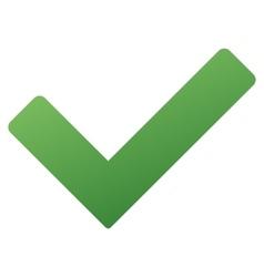 Ok Tick Gradient Icon vector image