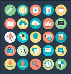 Design and Development Icon 1 vector image
