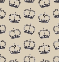 Seamless wallpaper representing the crown of the vector
