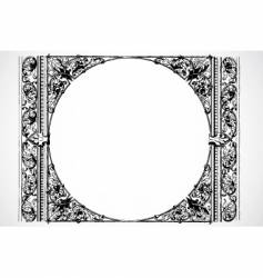 circle frame vector image