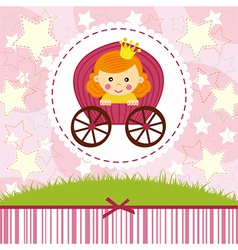 Baby girl princess vector