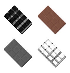 chocolate icon in cartoon style for web vector image vector image