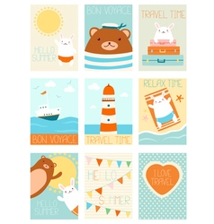 Collection of travel banners vector image vector image