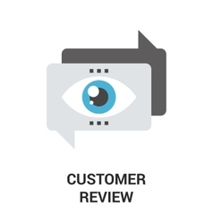 customer review icon vector image vector image