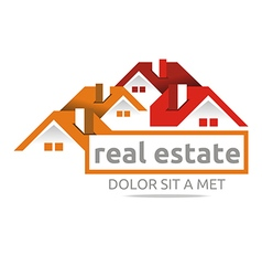 design real estate buiding architecture house vector image