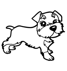 Dog coloring book with white vector