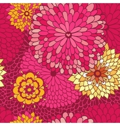 Floral autumn background with flowers vector