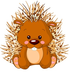 Fun zoo porcupine vector