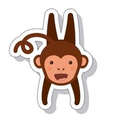 funny monkey isolated icon vector image