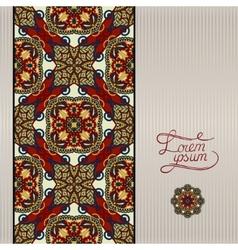 geometric background vintage ornamental design in vector image vector image
