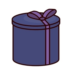 Gift box present ribbon event festive vector