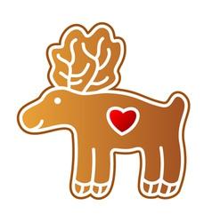 Gingerbread elk vector