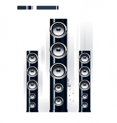 glossy speakers vector image vector image