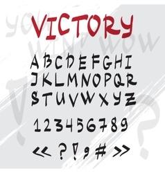 Hand drawn graffiti latin alphabet vector