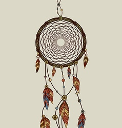 Hand drawn native american dreamcatcher vector