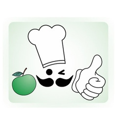 Healthy chef vector image vector image