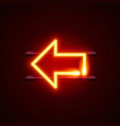 heon sign arrow left signboard vector image