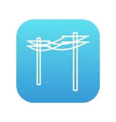 High voltage power lines line icon vector
