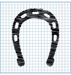 Horseshoe black icon vector image vector image
