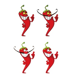 hot pepper set vector image