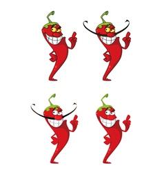 hot pepper set vector image