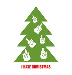 I hate christmas christmas tree for bad children vector