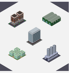 Isometric construction set of water storage vector