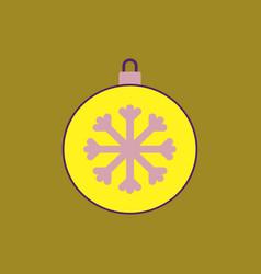 New year snowflake christmas vector
